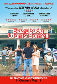 Everybody Wants Some 2016 UK Poster