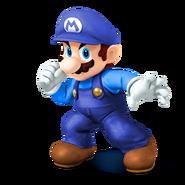 SSB4 recolour Blue Mario