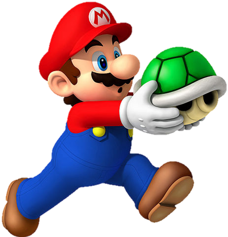 File:Mario Holding Shell.png