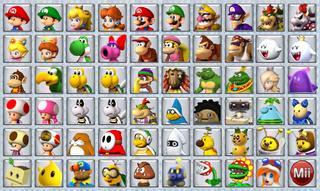 Mario Kart Wii 2.0 Selection Screen