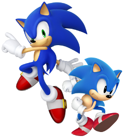 File:Modern Sonic and Classic Sonic.png