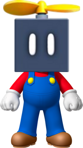 File:Mario with a Propeller Block.png