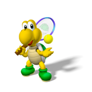 Koopa Troopa Artwork - Mario Power Tennis