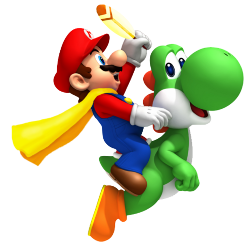 File:Cape Mario and Yoshi SMW3D.png