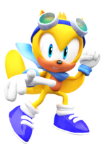 Ray the flying squirrel model sonic world by nibrocrock-d7lpoxb