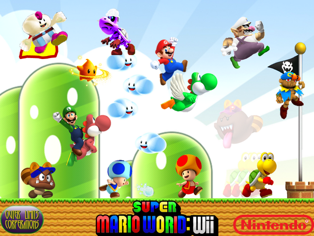 File:Super Mario World Wii Wallpaper.png