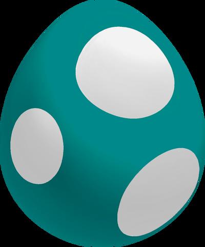 File:Teal Baby Yoshi Egg.png