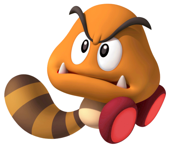 File:Golden Raccoon Goomba SM3DW.png