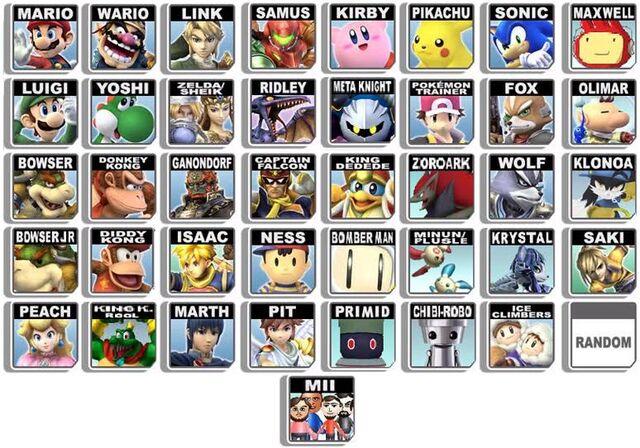File:Super Smash Bros Character Roster.jpg