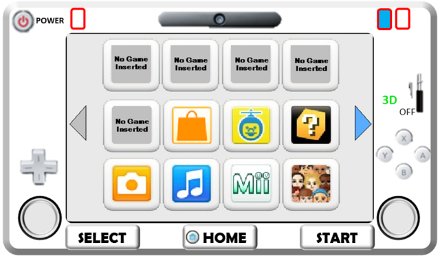 File:WiiPad Controller White Front Realistic Look.png