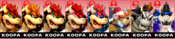 Bowserpaletteswaps
