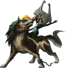 TPHD Wolf Link and Midna Artwork