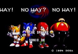 Blue Sphere ROM menu