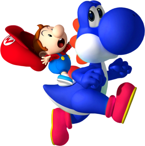 File:Baby Mario on Yoshi NSMBDIY.png