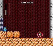 Mega Man NES Rock vs Gutsman boss battle