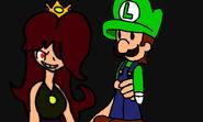 Darcena and Luigi Doll by Thunderlina