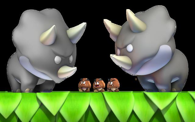 File:2 Reznors & 3 Mini Goombas.png