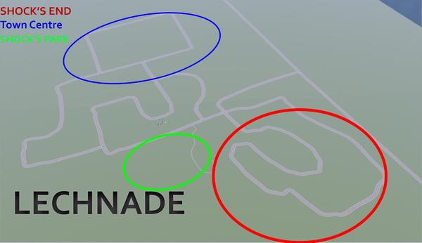 Lechnade's map