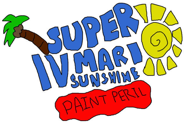 File:Super Mario Sunshine IV Paint Peril Logo.png
