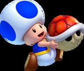 Blue Toad Artwork - New Super Luigi U