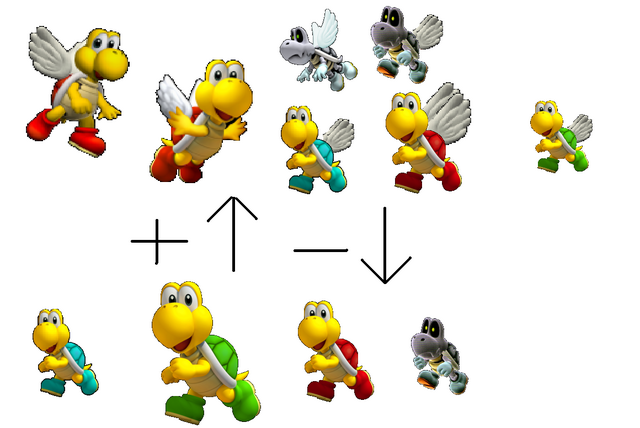 File:All the tipe of the koopa troopa.png