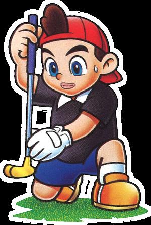 MarioGolfBadge Kid