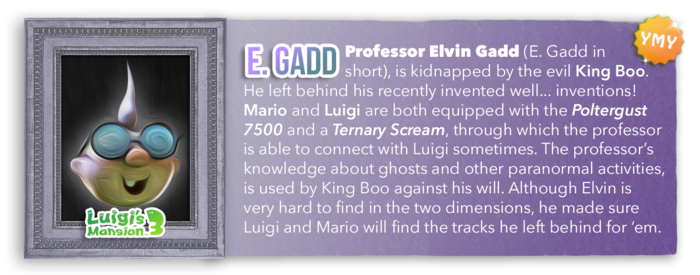LM3 Character Info - Professor Elvin Gadd