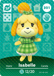 Ac amiibo card s4 isabelle dress