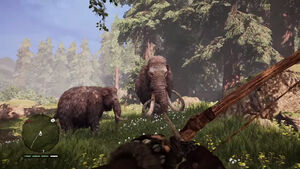 Elder mammoth and young mammoth