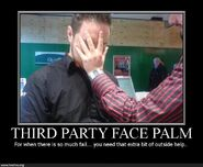 045 third party face palm