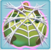 Apple grumpy under cobweb