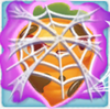 Carrot grumpy under cobweb on slime