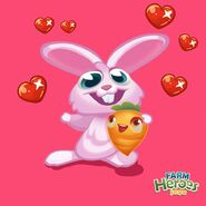 Rob the Rabbit loves Carrots