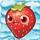 Strawberry on snow