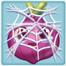 Onion under cobweb