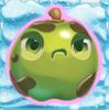 Apple grumpy on snow