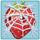 Strawberry under cobweb