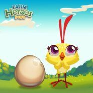 Choochoo and an egg