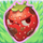 Strawberry grumpy on grass