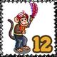 Feather Warrior Monkey Stamp-icon