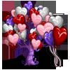 Heart Balloon Tree-icon