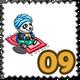 Flying Carpet Panda Stamp-icon