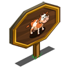 Fan Cow Mastery Sign-icon