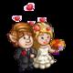 English Wedding Couple-icon