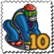 Street Gorilla Stamp-icon