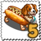 Hotdog Mascot Dog Stamp-icon