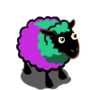 Turquoise Purple Sheep-icon
