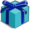 Blue Mystery Box-icon