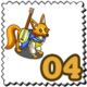 Musician Fox Stamp-icon