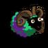 Turquoise Ram (Byzantium Stripes)-icon